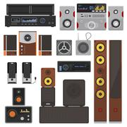 Music systems vector set Piirros