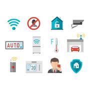 Remote home control system Smart House vector illustration Stock Illustration