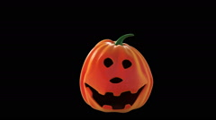 Halloween pumpkins having fun. Stock Footage