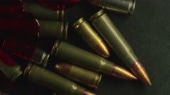 Bloody Bullets from Gun Violence Closeup Stock Footage