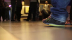 Close up dancing feet of couple Stock Footage