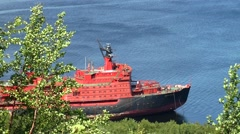 "The world's second nuclear-powered icebreaker ""Arktika"". Stock Footage"