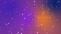 Sparkly light particles moving across a purple blue orange gradient background Stock Footage