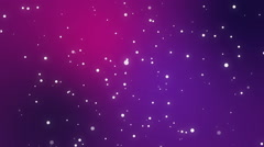 Sparkly white light particles moving across a purple pink gradient background Stock Footage