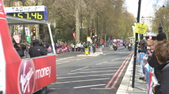 4K Runner & support vehicles at the 2016 London Marathon - Editorial Stock Footage