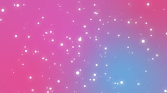 Cute romantic pink blue background with sparkling light particles Stock Footage