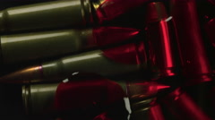 Bloody Bullets from Gun Violence Closeup Shot Stock Footage