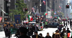 Columbus day parade in New York City Stock Footage