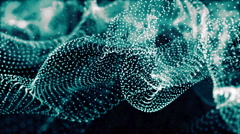 Digital Wave Particles Form Stock Footage