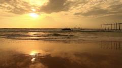 Sunset on the beach. Stock Footage