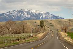 Highway 26 Heading East Oregon United States Stock Photos