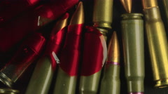 Bloody Bullets from Gun Violence Macro Shot Stock Footage