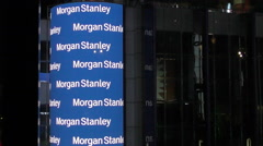 Morgan Stanley corporate office New York Stock Footage