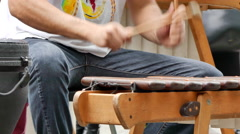 Male playing xylophone Stock Footage