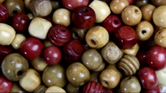 Top view of crafting beads Stock Footage
