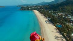 Flying flower. Kata Noi beach. Phuket. Thailand. Stock Footage