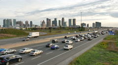 Mississauga Highway 403 Rush Hour Stock Footage