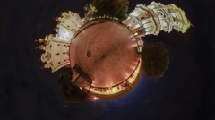Little Tiny Planet 360 Degree Kiev Sights Lawyer's Day Mikhailovsky Cathedral Stock Footage