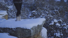 Quiet reflection after a winter storm Stock Footage