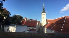 St. Nicholas Church in the old town Stock Footage