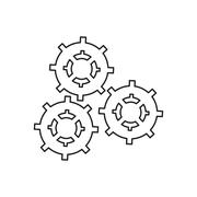 Isolated gears machine part design Stock Illustration