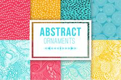 Abstract background set vector textures. Ethnic backdrop Stock Illustration