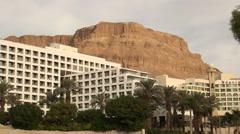 Israel.Dead Sea.Hotels settlement Ein Bokek. Stock Footage