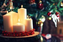 Candle decor toned ball Stock Photos