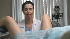 Woman Having Pap Test at Appointment Stock Footage