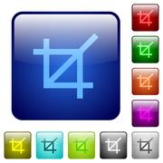 Color crop tool square buttons Stock Illustration