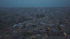 Panoramic view from the top of the oldest Russian town Derbent Dagestan Stock Footage