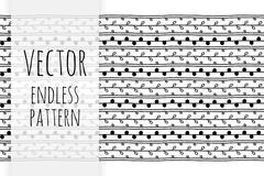 Vector hand drawn endless pattern Stock Illustration