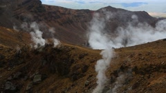 Steam activity in New Zealand Stock Footage