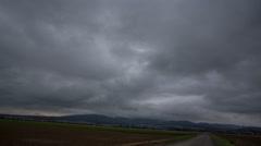 4k Bad weather clouds timelapse Harz mountain range destination landscape Stock Footage
