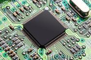 Microchip, electronics concept Stock Photos