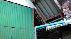 Colorful Thai roof detail Stock Footage
