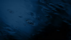 Skylight In Rain Storm At Night Stock Footage