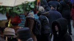 European Christmas, Budapest Stock Footage