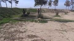 Syria - February 13, 2016: Troops YPJ nurse on field, SDF-YPJ - Training camp Stock Footage