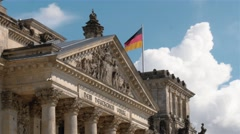 Locked down medium shot of The German Parliament and the Bundestag, Berlin Stock Footage