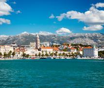View of Old Town Split in Dalmatia, Croatia Stock Photos