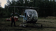 Canada 1962: helicopter taking off Stock Footage