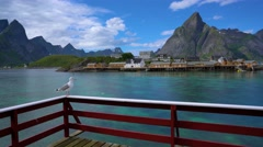 Lofoten archipelago islands Stock Footage