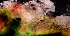Multicolored ice plate melting Stock Footage