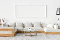 Blank Picture frame on the wall. Place your creation in this empty space. Stock Illustration