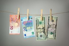 Money laundry concept Stock Photos