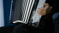 Playing the accordion (bayan). Stock Footage