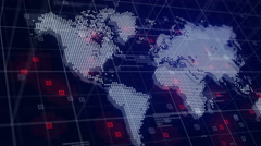 Digital World Map Hologram Blue Background 4K Stock Footage
