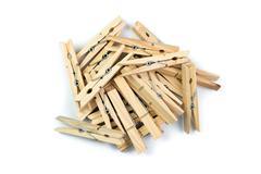 Wooden clothes pegs Stock Photos