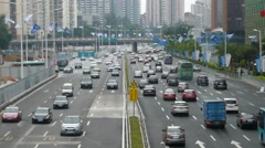 Shenzhen, China: road traffic landscape Stock Footage